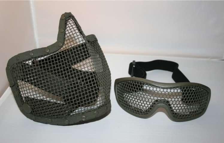 Heroshark Mesh goggles and lower face mask