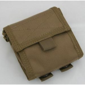 TEMPLAR ASSAULT SYSTEM Folding Magazine pouch TAN folded-500x500